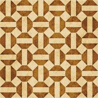 茶色の水彩テクスチャ、シームレスなパターン、ジオメトリクロススクエア八角形