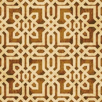茶色の水彩テクスチャ、シームレスパターン、ジオメトリラインクロス