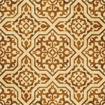 Brown watercolor texture, seamless pattern, islamic cross royal kaleidoscope