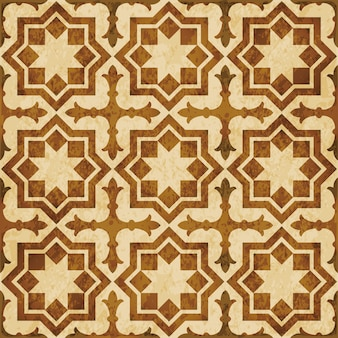 Brown watercolor texture, seamless pattern, islamic star cross geometry