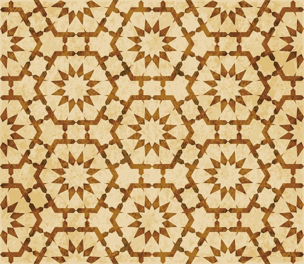 Brown watercolor texture, seamless pattern, polygon geometry flower lace