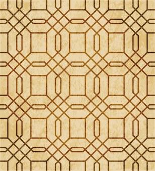 茶色の水彩テクスチャ、シームレスパターン、多角形の正方形のジオメトリのクロスライン
