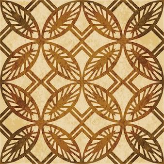 茶色の水彩テクスチャ、シームレスパターン、丸い正方形のクロスチェック