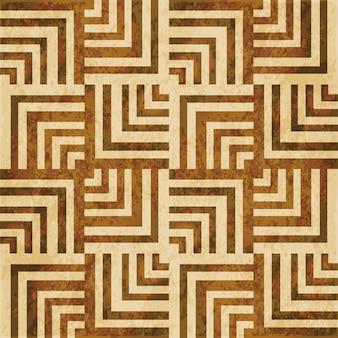 茶色の水彩テクスチャ、シームレスなパターン、スパイラルジオメトリの正方形の線