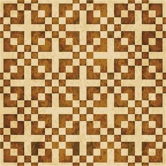 茶色の水彩テクスチャ、シームレスなパターン、正方形のモザイククロス