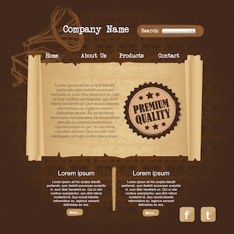Brown website design ornament vector illustration