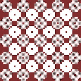 Brown and white monochrome vector quilt pattern. repeat design for prints, textile, decor, fabric, clothing, packaging