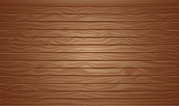 Brown wood texture background with 3d vector illustration top view
