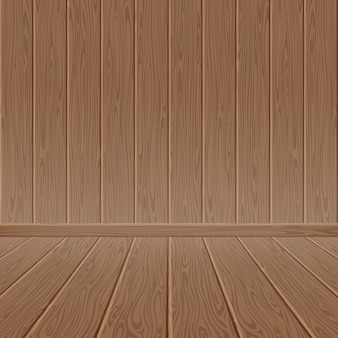 Brown wood textured wall and floor