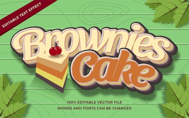 Текстовый эффект пирожного для пирожных, редактируемый для иллюстратора