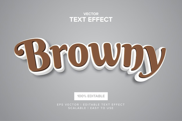 Browny editable  text effect