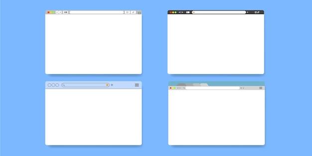 브라우저 페이지 디자인 템플릿 세트