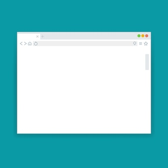 Browser window, blank web page vector template