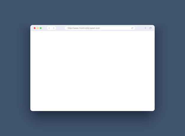Browser window in modern style f