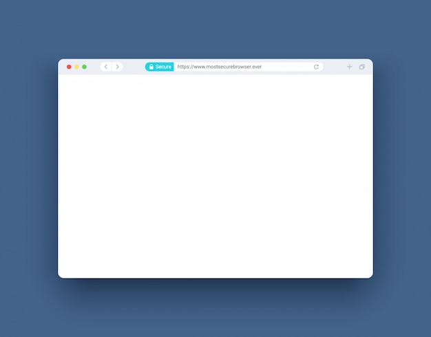 Browser window in modern style