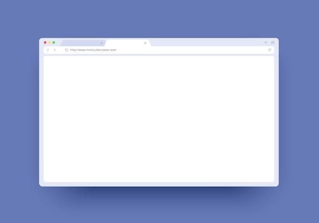 웹 사이트, 노트북 및 컴퓨터에 대 한 빈 공간을 가진 브라우저 창. 인터넷 페이지 창 개념
