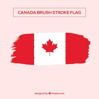 Brsuh stroke canadian flag background