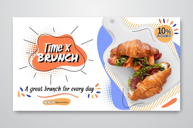 Brunch banner template with discount