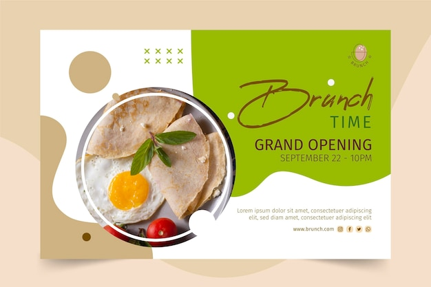 Brunch banner template