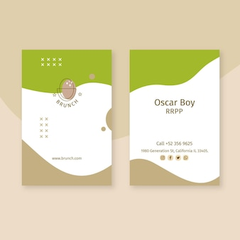 Brunch business card