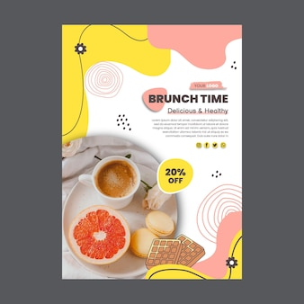 Brunch discount poster template
