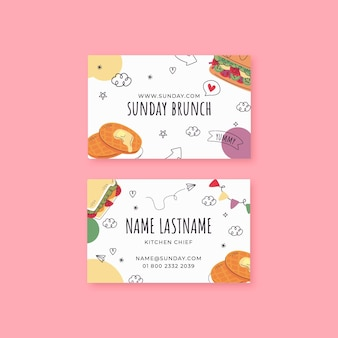 Brunch double-sided business card template