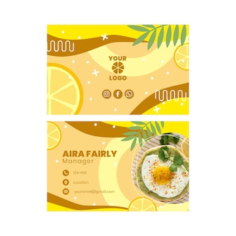 Brunch double-sided horizontal business card