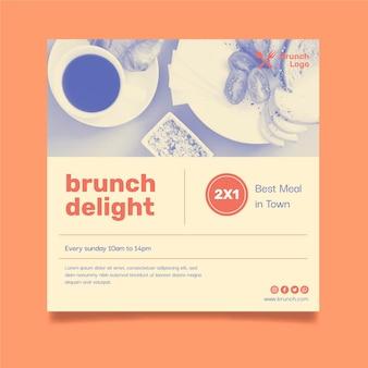 Brunch flyer template