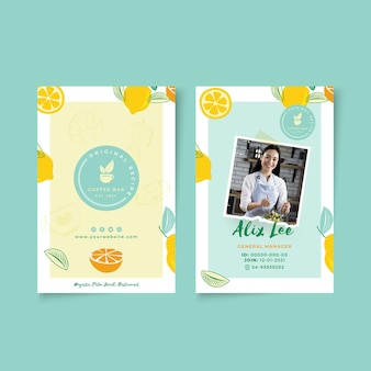 Brunch id card template