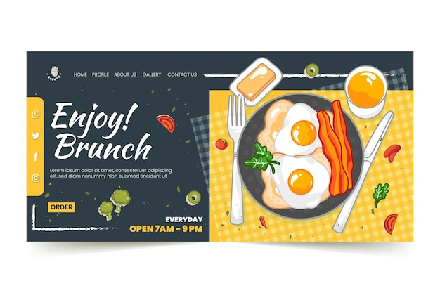 Brunch landing page template