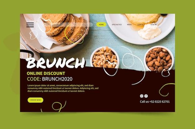 Pagina di destinazione del brunch