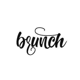 Brunch lettering