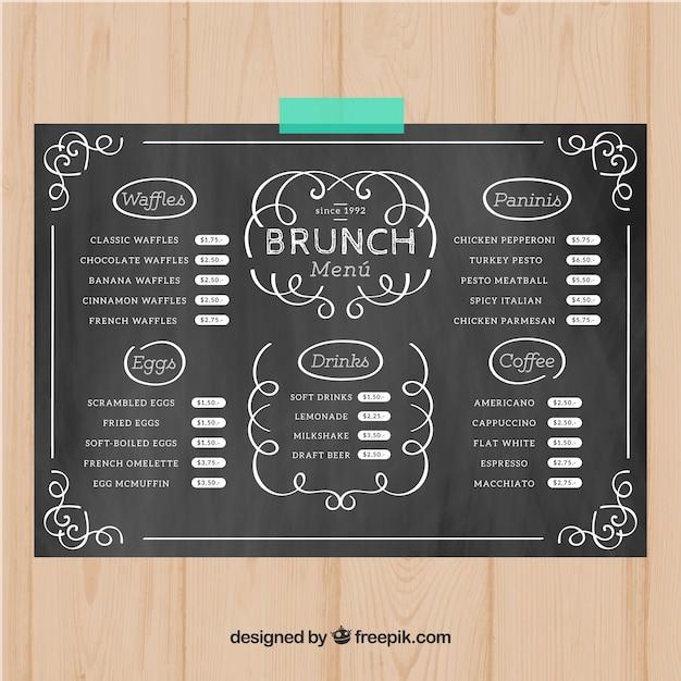 brunch menu templates thevillas co
