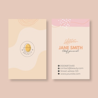 Brunch restaurant business card template