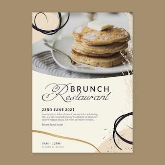 Modello di poster del ristorante per il brunch