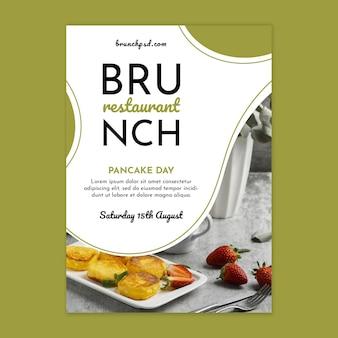 Modello di poster verticale ristorante brunch
