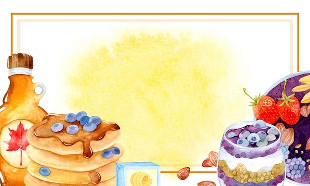 브런치 템플릿 포스터 수채화 메뉴