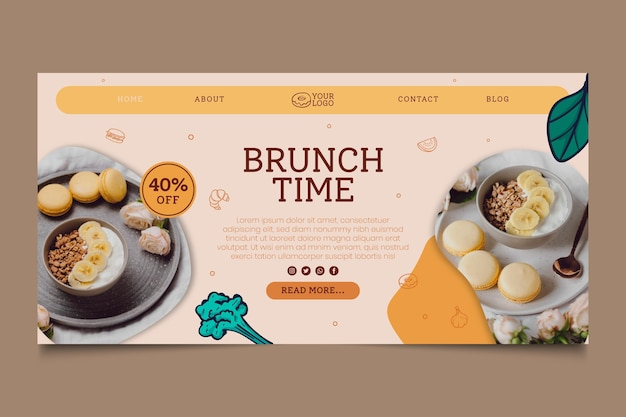 Brunch time landing page template