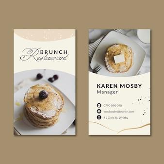 Brunch vertical business card
