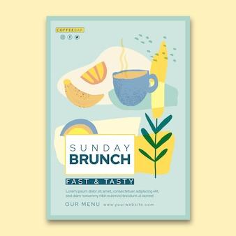 Brunch vertical flyer template