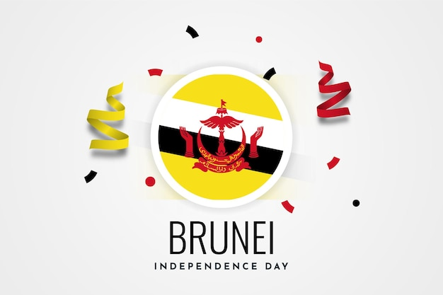 Дизайн шаблона дня независимости брунея-даруссалама