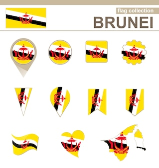Brunei flag collection, 12 versions