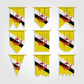 Флаг брунея в разных формах, флаг брунея в разных формах