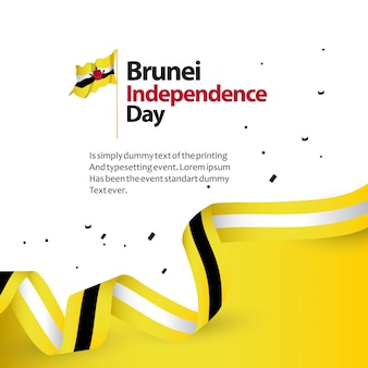 Brunei independence day vector template design illustration