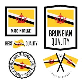 Brunei quality label set