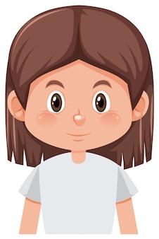 A brunette girl character