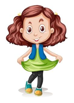 A brunette hair clour girl character