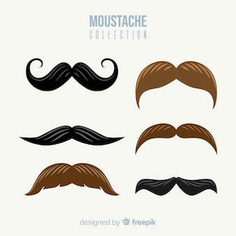 Brunette moustache collection