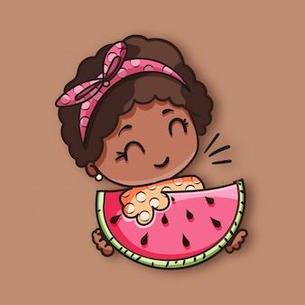 Brunette watermelon