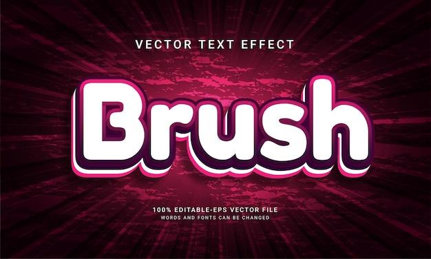 Brush 3d editable text effect